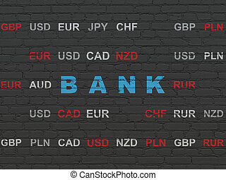Money concept: Bank on wall background