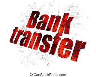 Money concept: Bank Transfer on Digital background