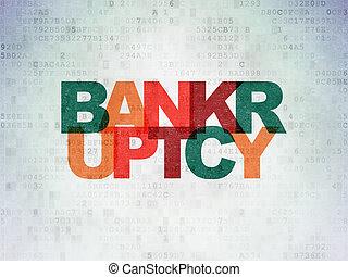 Money concept: Bankruptcy on Digital Data Paper background