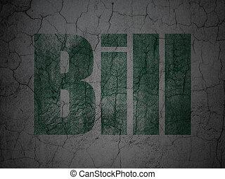 Money concept: Bill on grunge wall background
