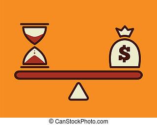 money concept - time is money, money concept