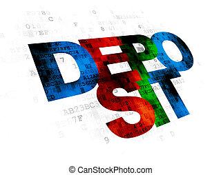 Money concept: Deposit on Digital background