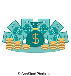 money concept design, vector illustration