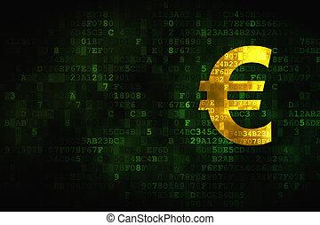 Money concept: Euro on digital background