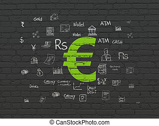 Money concept: Euro on wall background