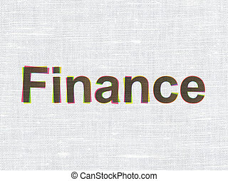 Money concept: Finance on fabric texture background