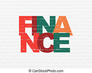 Money concept: Finance on wall background