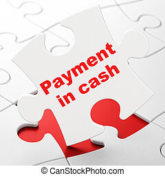 Money concept: Payment In Cash on puzzle background