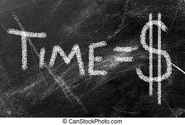 time is money - money concept - time is money