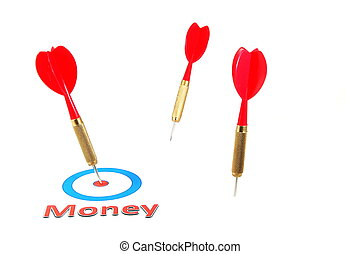 money concept with dart arrow