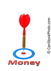 money concept with dart arrow