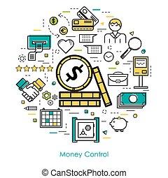 Money Control - Line Art