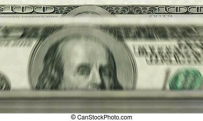 Money counting machine ? 100 Dollar - Money counting machine...