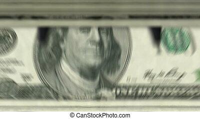 Money counting machine down ? 100 Dollar