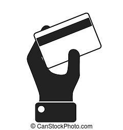 money credit card hand icon vector illustration