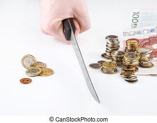 money cutback - concept of money...