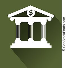 Money design over green background,vector illustration