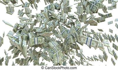 Money: dollar cash scattering