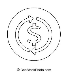 Money dollar sign icon illustration design