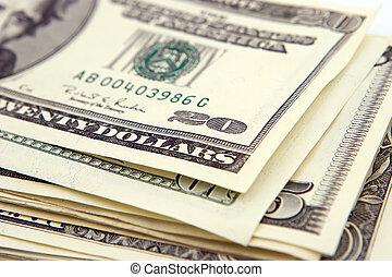 Money-Dollars - Extrim close up 20 dollars