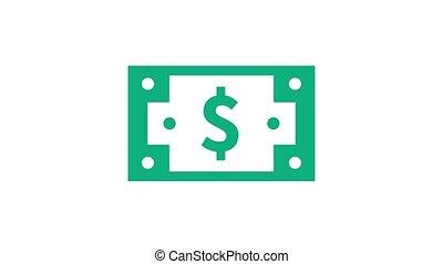 Money donation notification, animation video