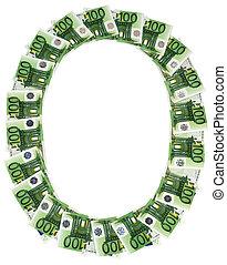 Money euro. Number nine.