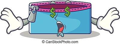 Money eye pencil case character cartoon