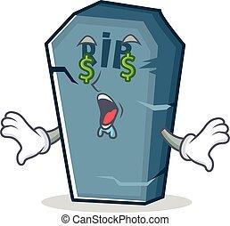 Money eye tombstone character cartoon object