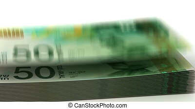 Money Fall New Israeli Shekel