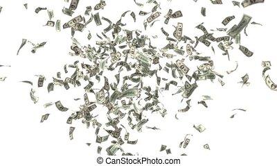 Money Falling Dollars Financial Win US USA American Currency Tax Make It Rain