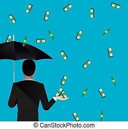 money falling - Money falling concept image. Vector eps 10