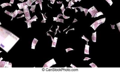 Money Falling Euros Financial Win Euro European Currency Tax...