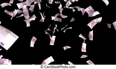 Money Falling Euros Financial Win Euro European Currency Tax Make It Rain 4k