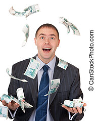 money fell into the hands of a businessman
