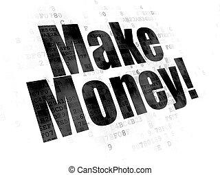 money!, finance, faire, fond, numérique, concept: