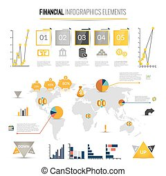 Money finance infographics