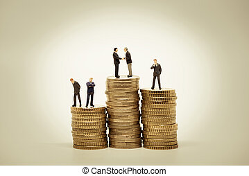 Money, Financial, Business Growth concept. Macro photo