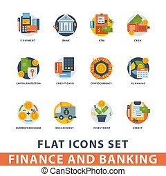 Money finanse banking safety icons business card deposit payment money finanse vector icons banking safety business currency card financial deposit bank payment illustration reheart Images