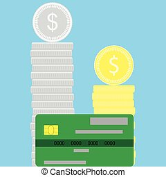 Money flat concept