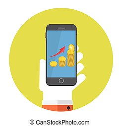 Money Flat Design Concept Vector Illustration.