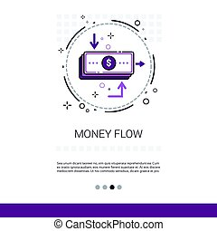 Money Flow Business Investment Banner With Copy Space