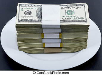 Money for a plate