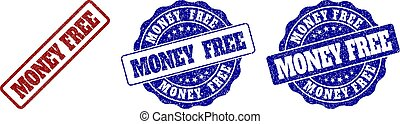 MONEY FREE Scratched Stamp Seals
