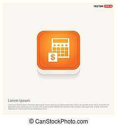 Money from atm icon Orange Abstract Web Button