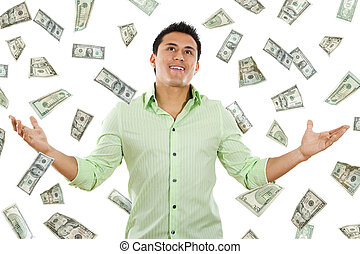Money from Heaven - Stock image of money falling around...