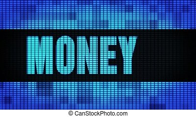 Money Front Text Scrolling LED Wall Pannel Display Sign Board