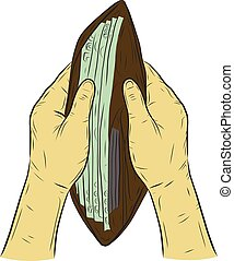 Money full in wallet