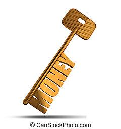 Money gold key