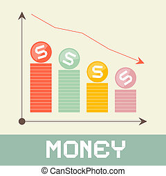 Money Graph Vector Illustration