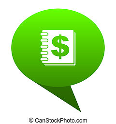 money green bubble icon